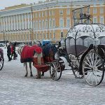 Romantic travel to Saint-Petersburg in Russia