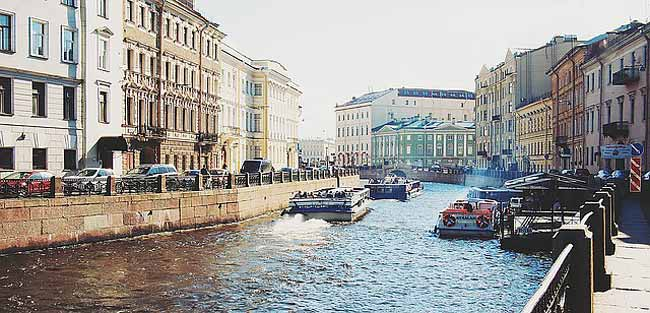 The Kryukov Canal is a famous canal in St Petersburg, Russia.